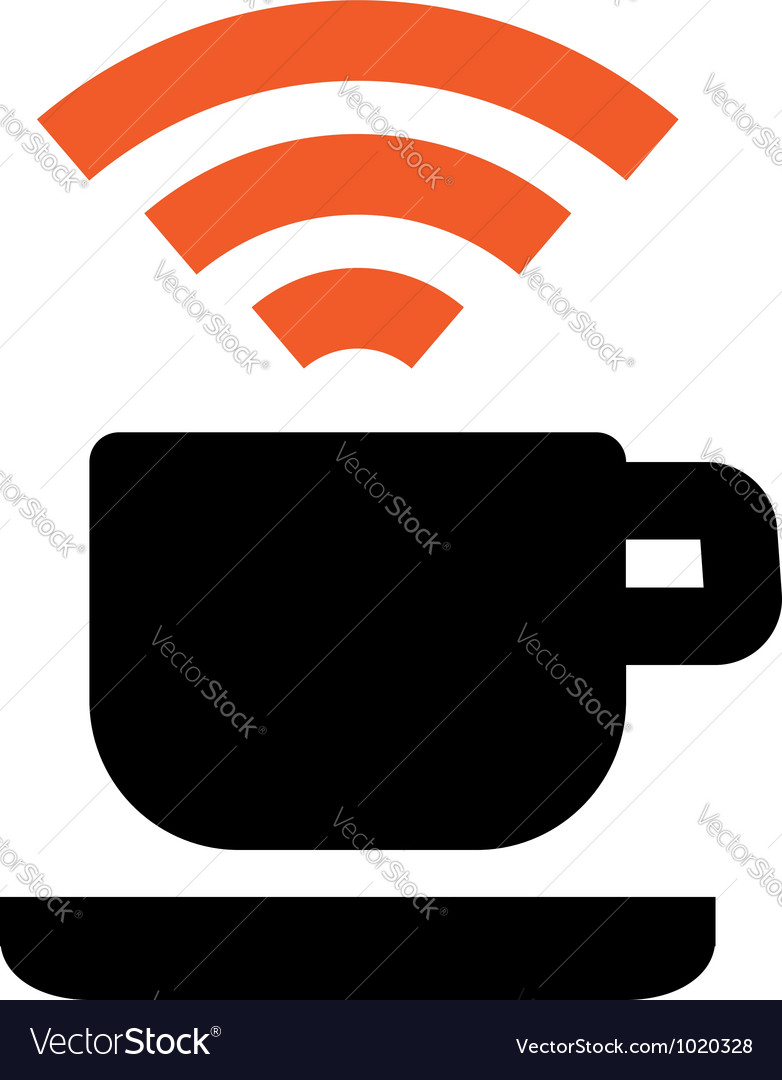 Free Wi-Fi coffee house area vector image