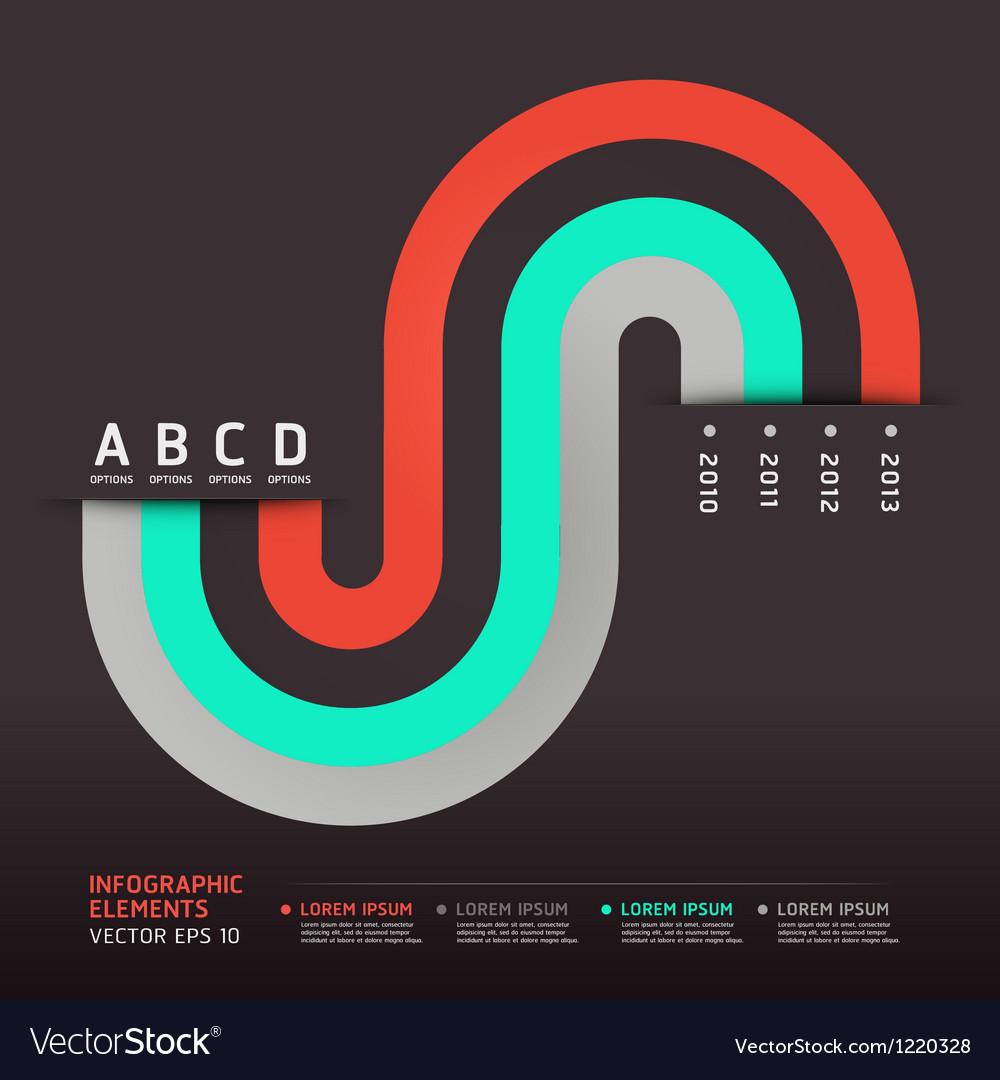 Modern infographics circle element
