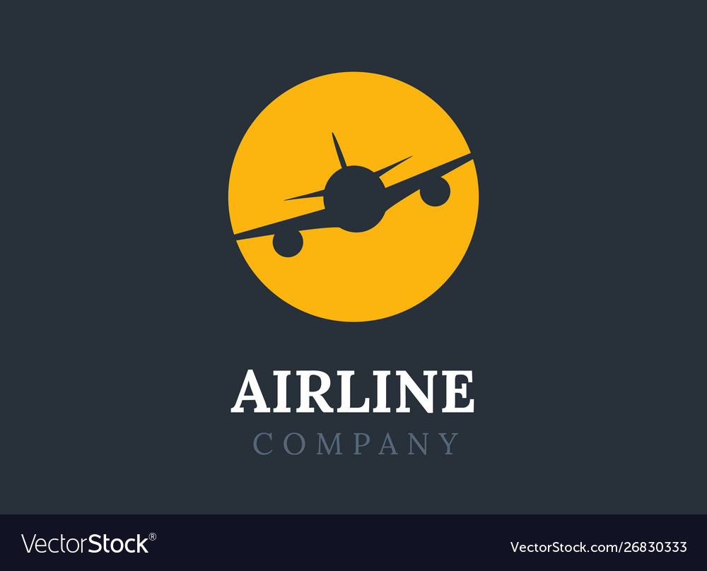 Airline logo plane travel icon airport flight