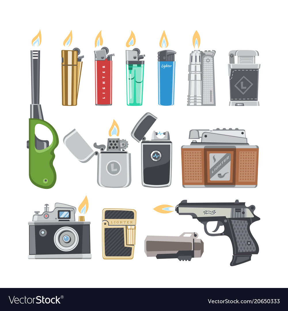 Lighter cigarette-lighter with fire or