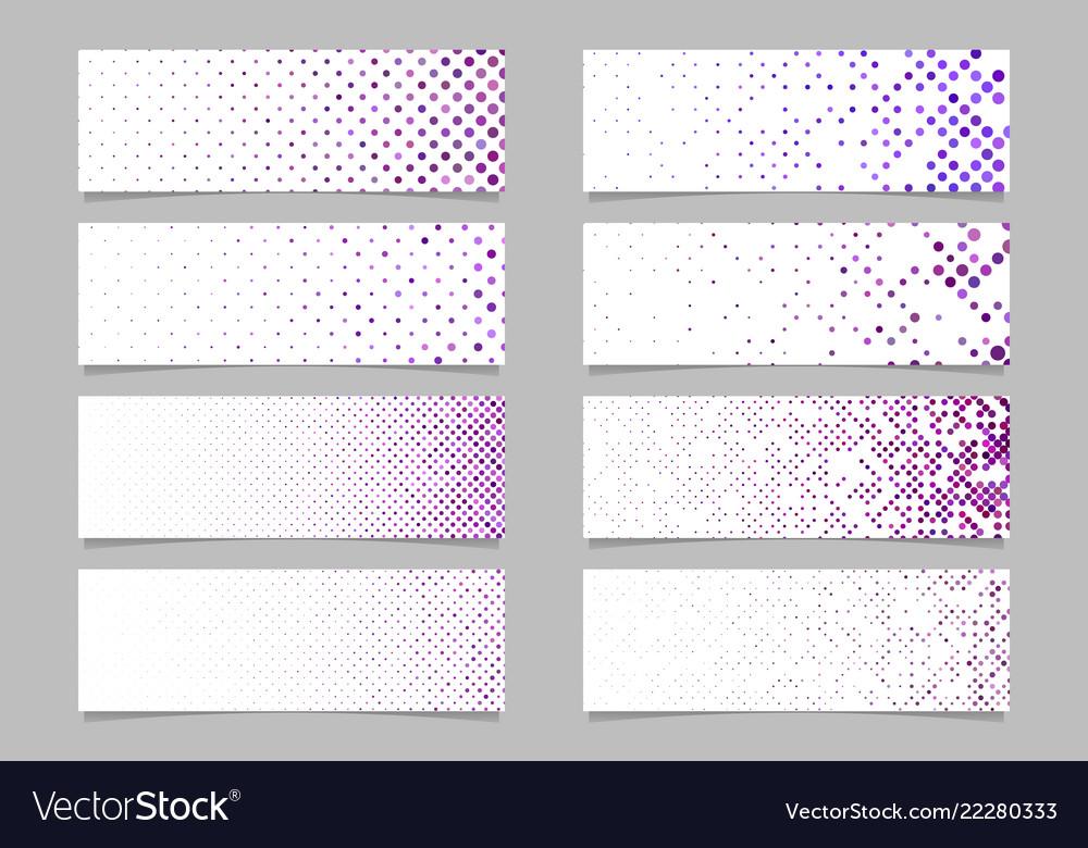 Modern abstract dot pattern banner background