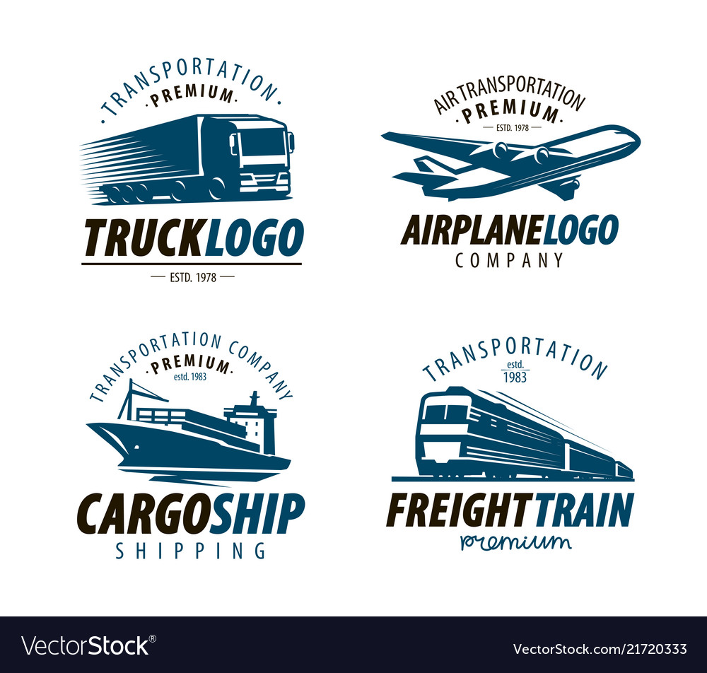 Shipping transportation logo or label cargo