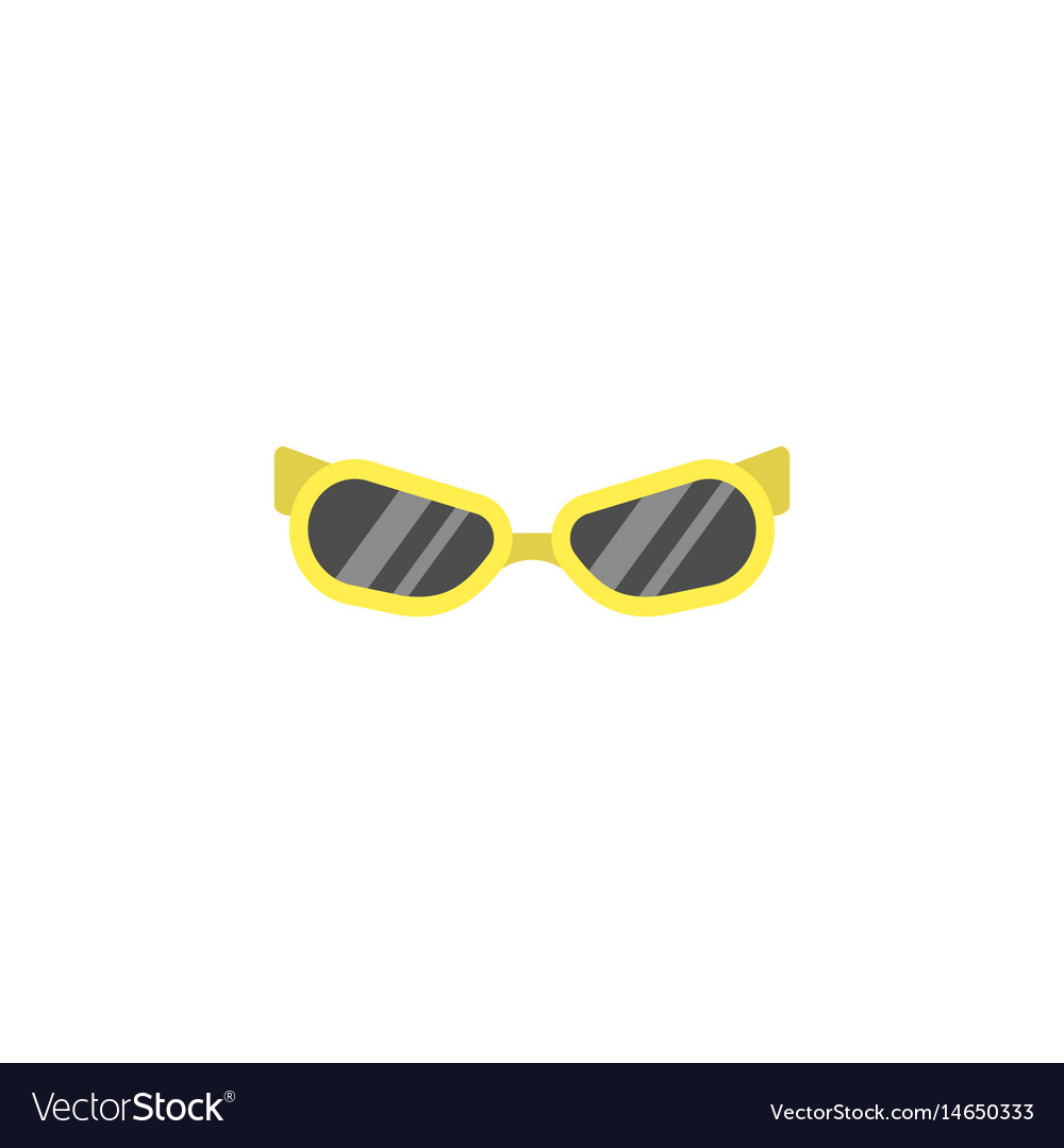 Sunglasses flat icon travel tourism vector image