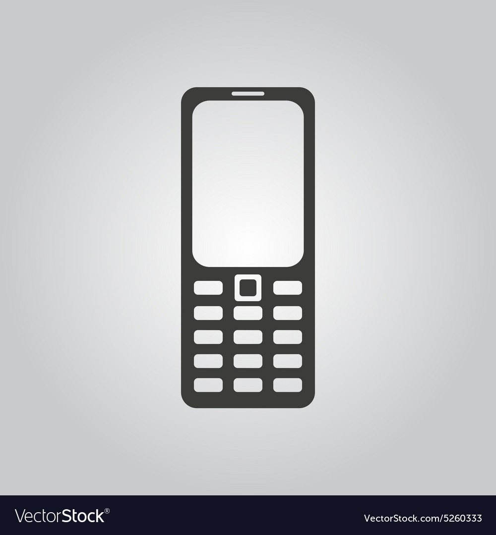 The Phone Icon Cellphone Symbol Royalty Free Vector Image