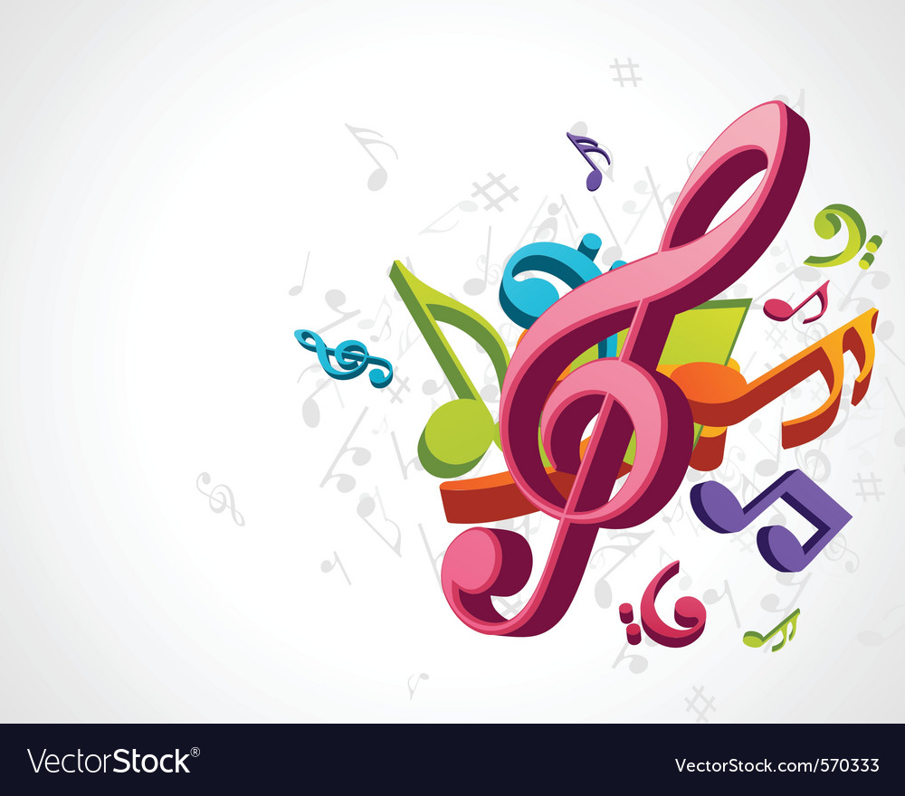 Treble clef music vector image