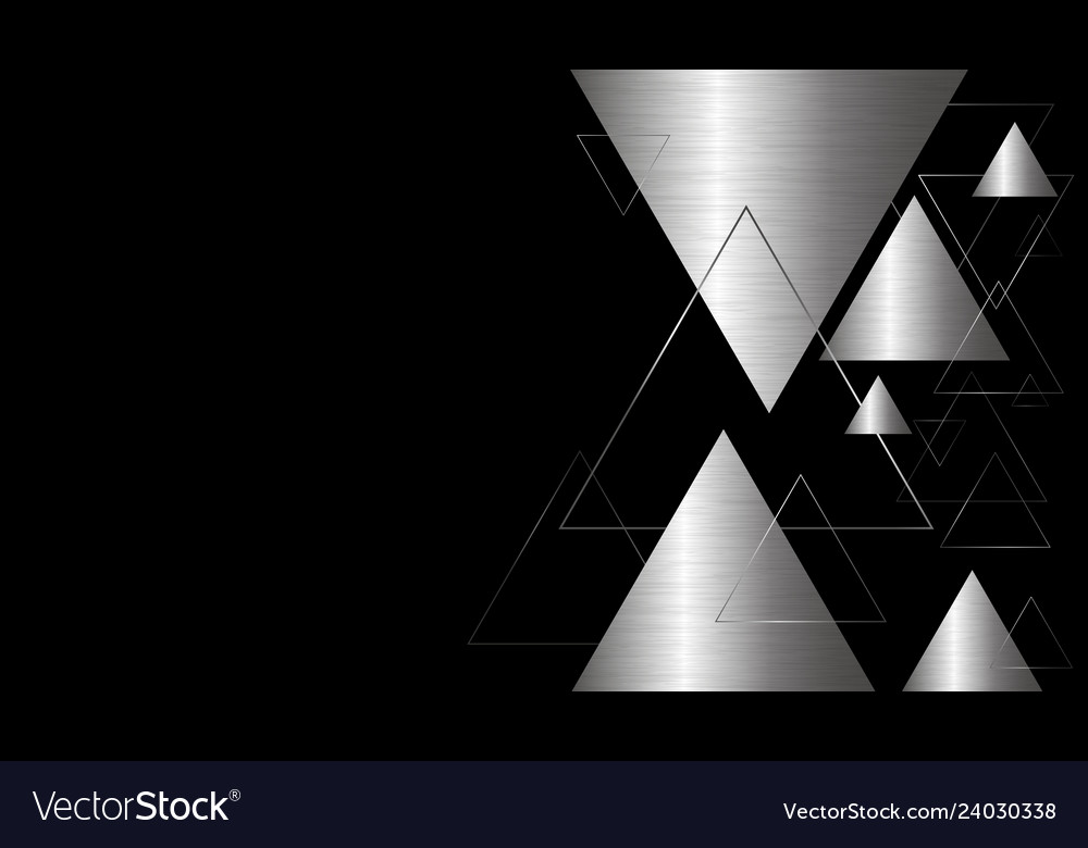 Abstract background design of metal triangle