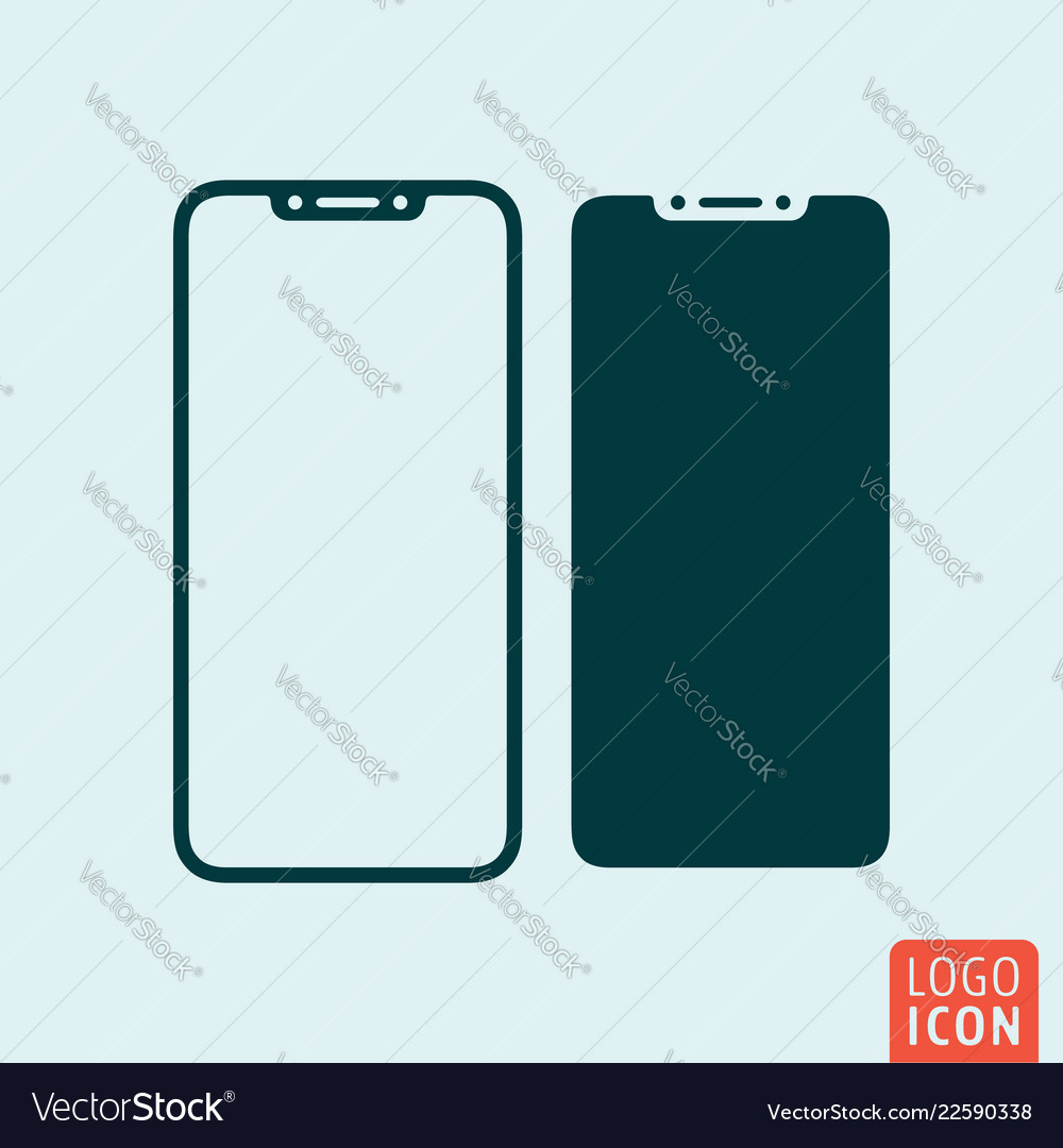 Abstract modern mobile phone symbol top-notch
