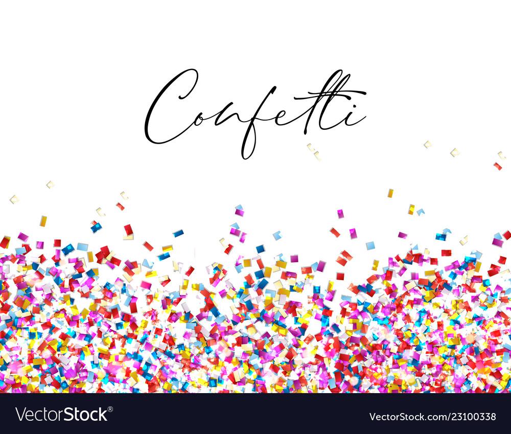 Celebration confetti background