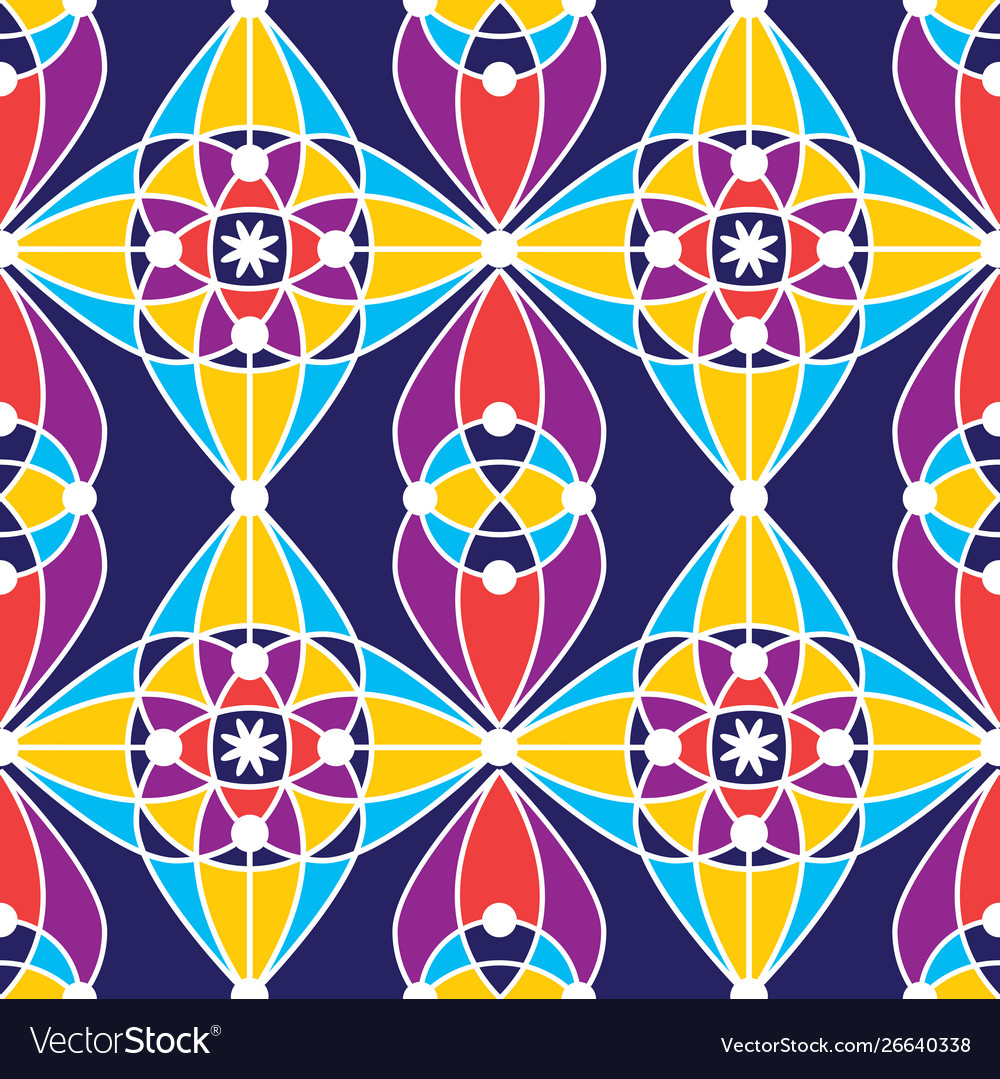 Colorful tradition seamless pattern background