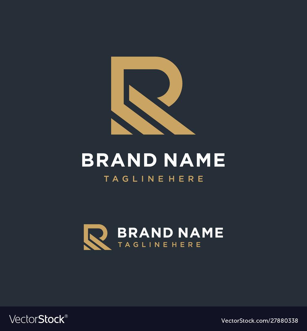 Minimalist letter r logo design inspiration