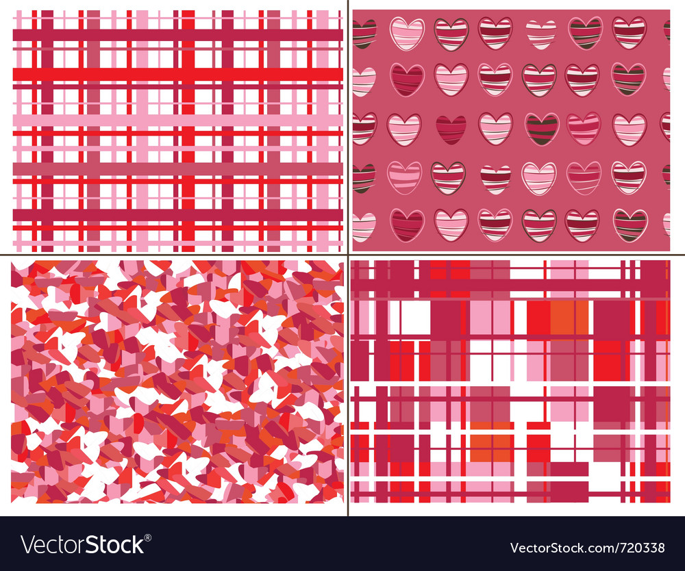 Seamless patterns of hearts for valentine day