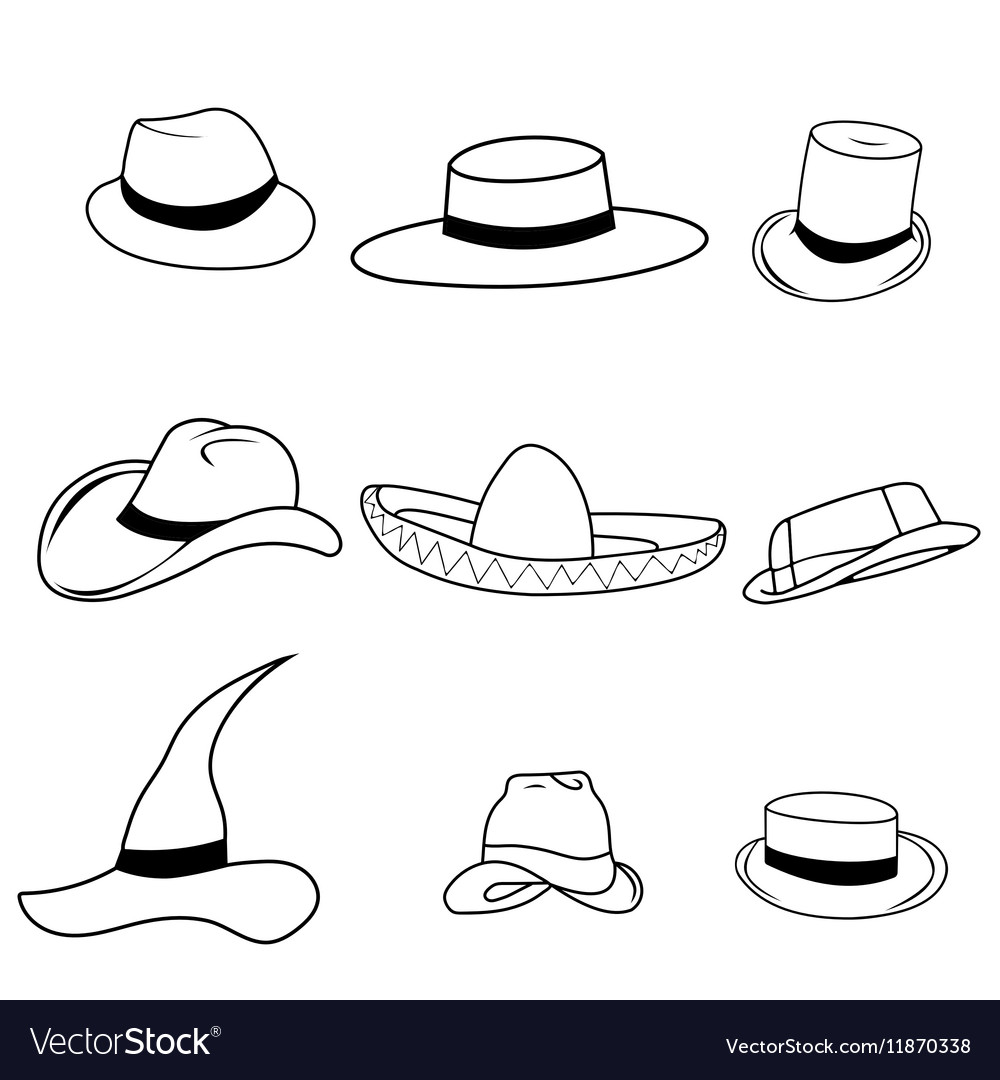 Set classic hats