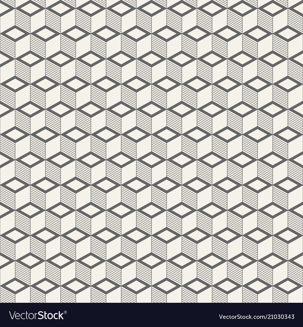 Abstract isometric cubes seamless pattern