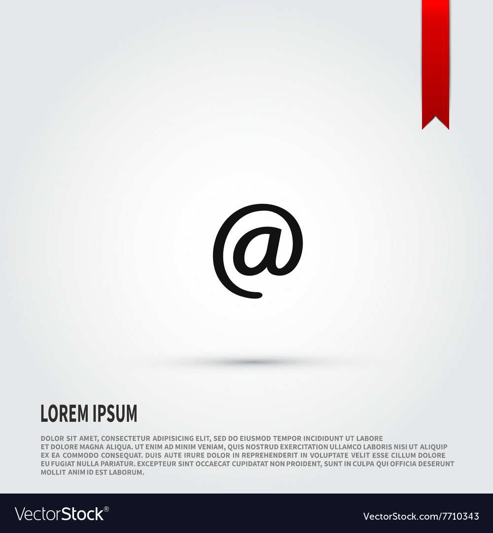 At sign icon Flat design style Template for