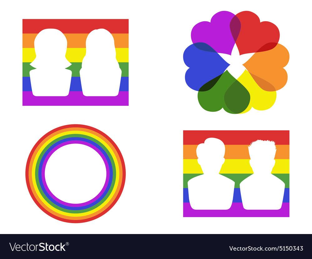 Color gay symbol icons vector image