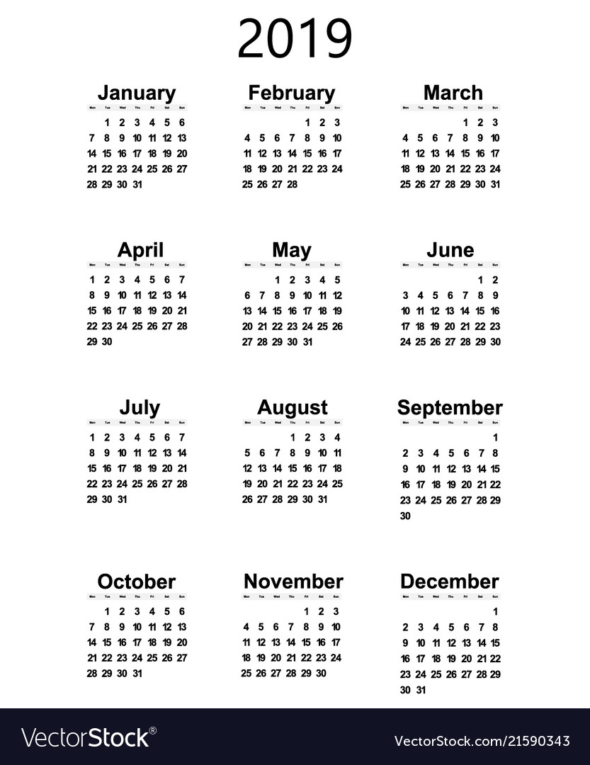 Great new wall calendar 2019