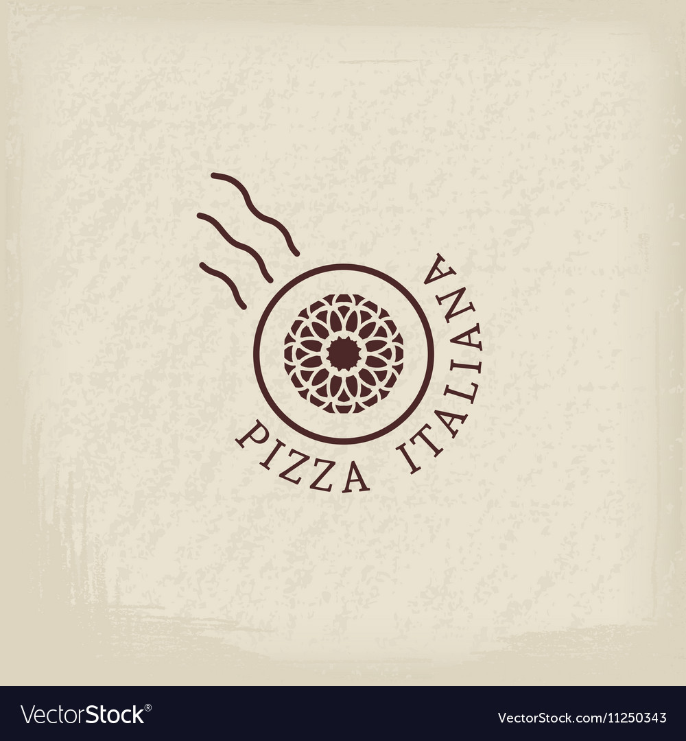 Pizzeria logo template