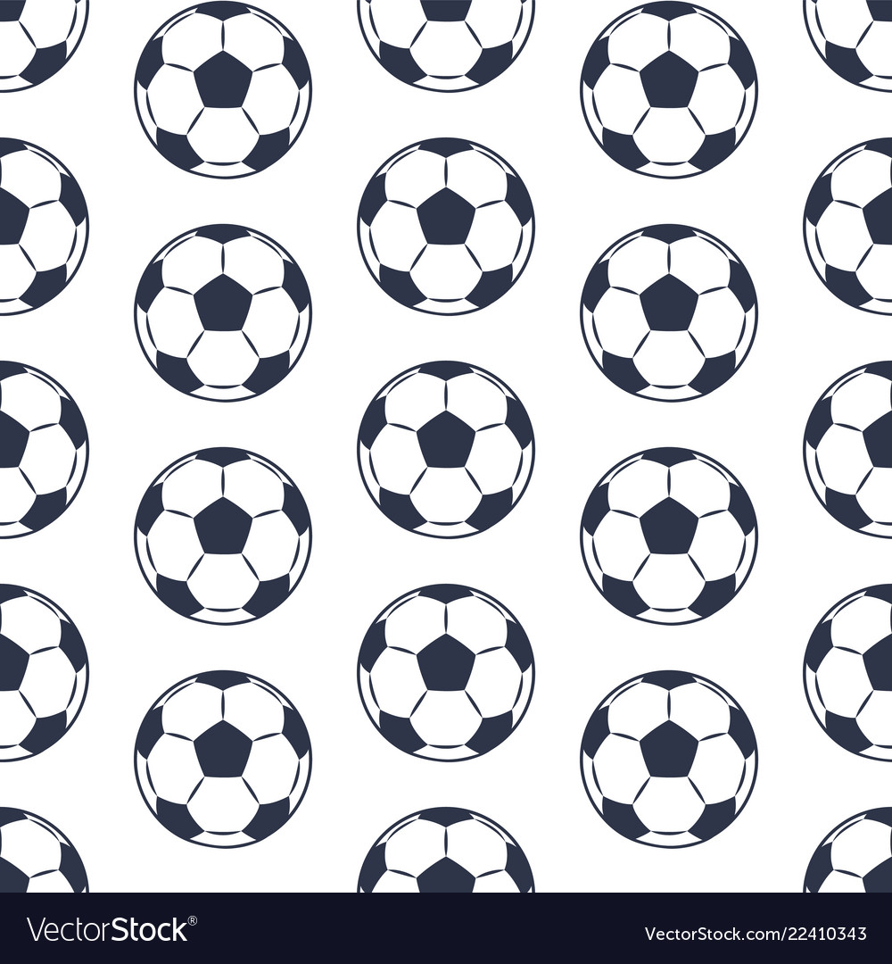 Seamless pattern isolated on white football balls