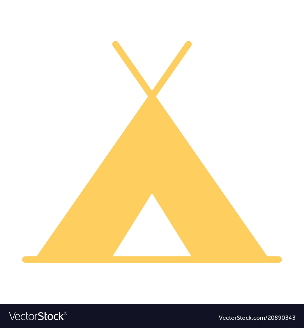 Tourist tent icon simple minimal 96x96 pictogram