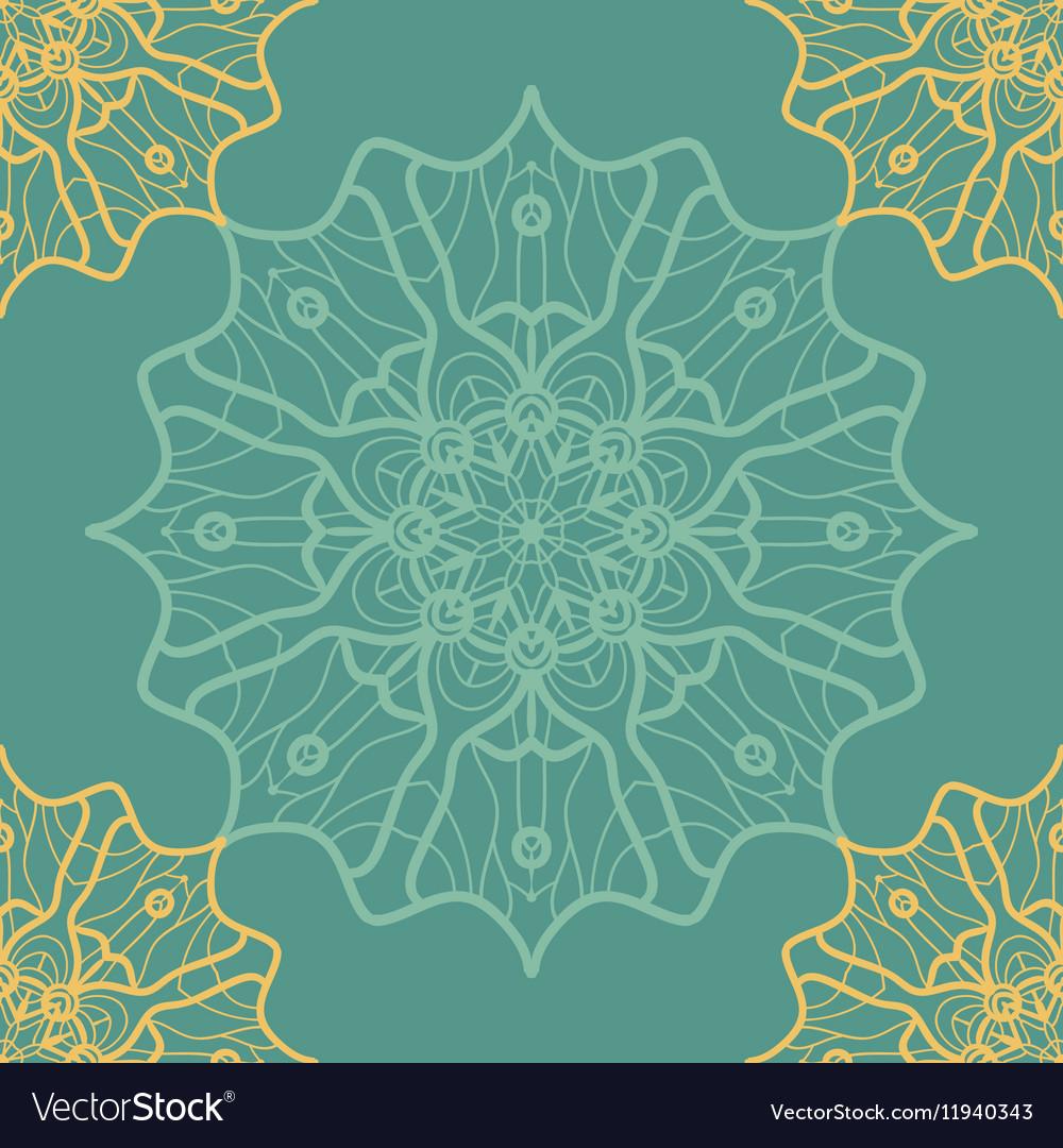 Yoga Ornament kaleidoscopic seamless Indian Art vector image