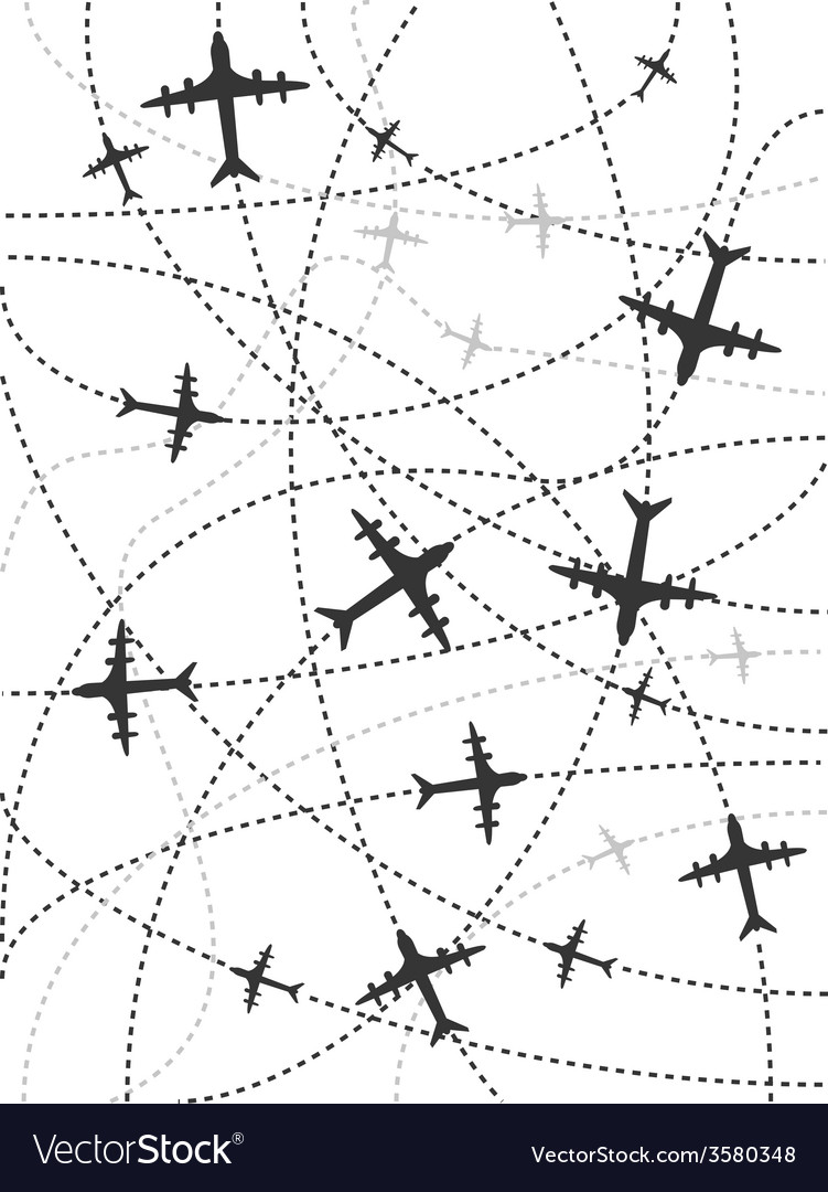 Airplane routes background
