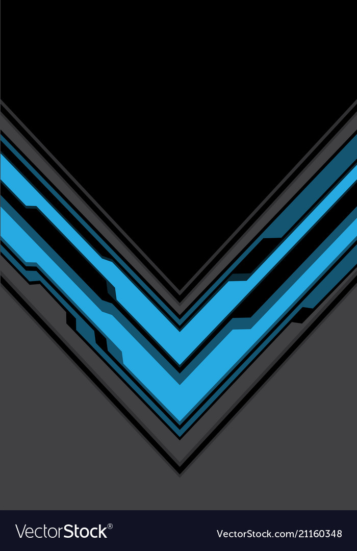 Blue gray arrow cyber with black blank space