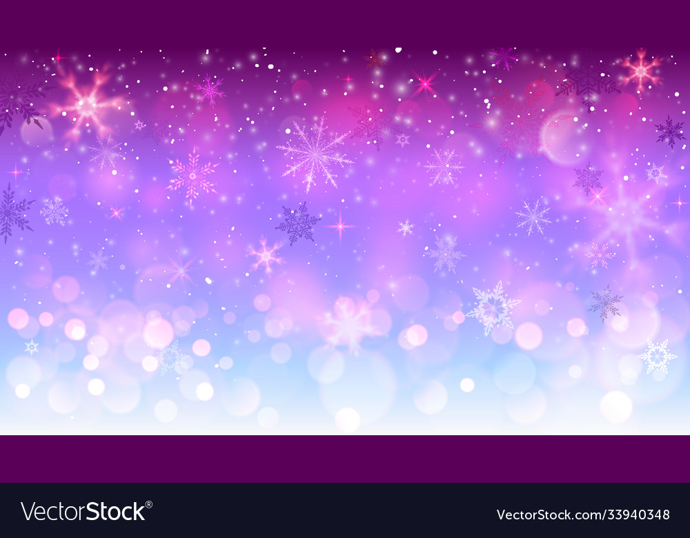 Christmas blue and red background with snowflakes