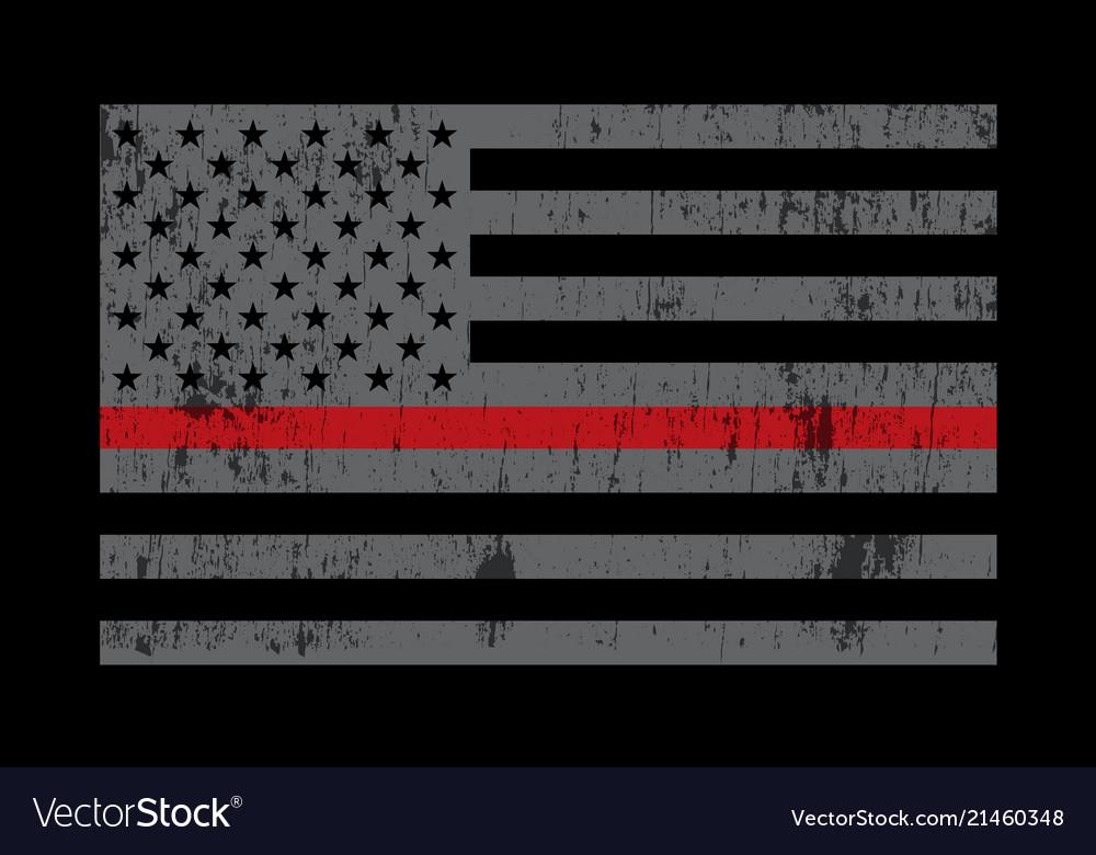 Fireman support flag grey