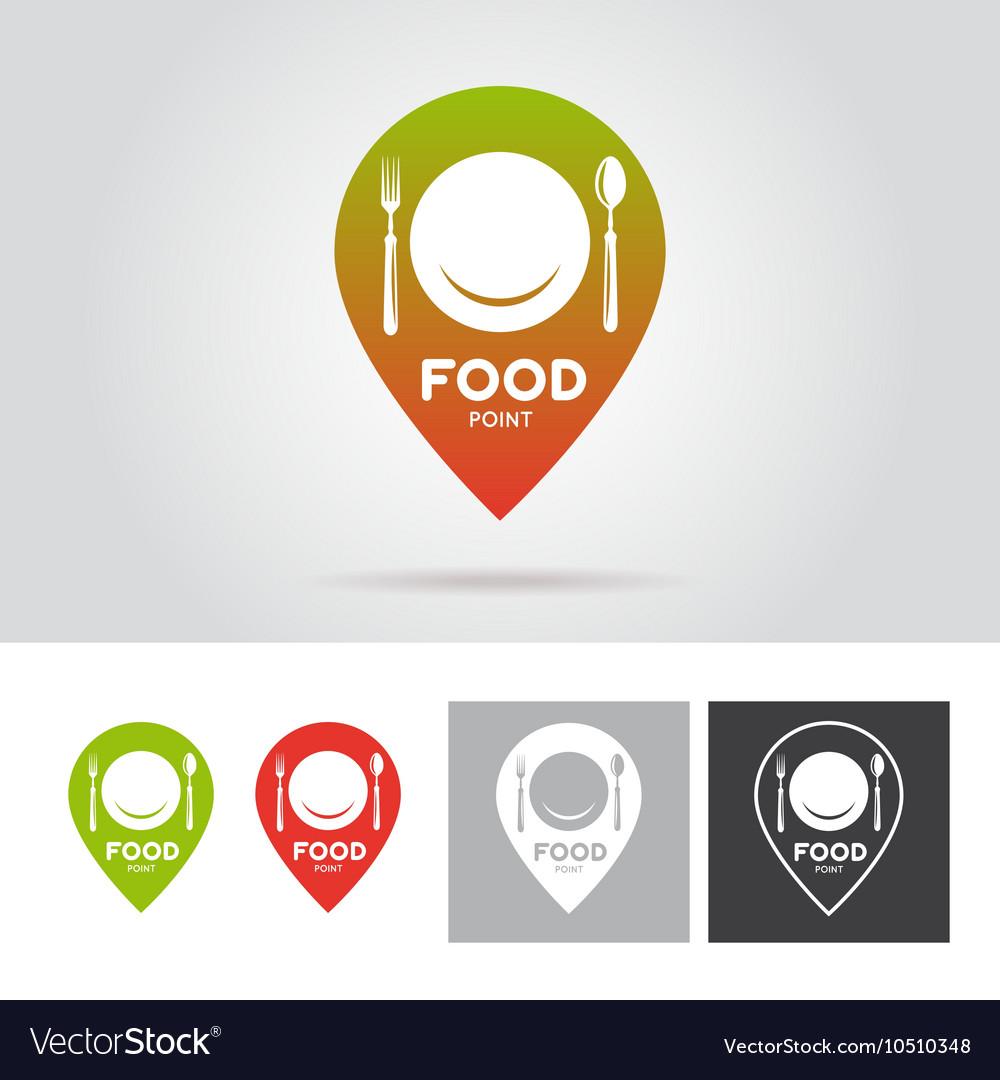 Food point sign emblem label Vintage