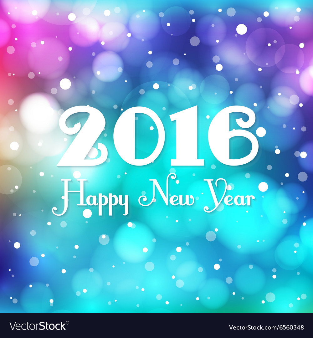 New year blurred background