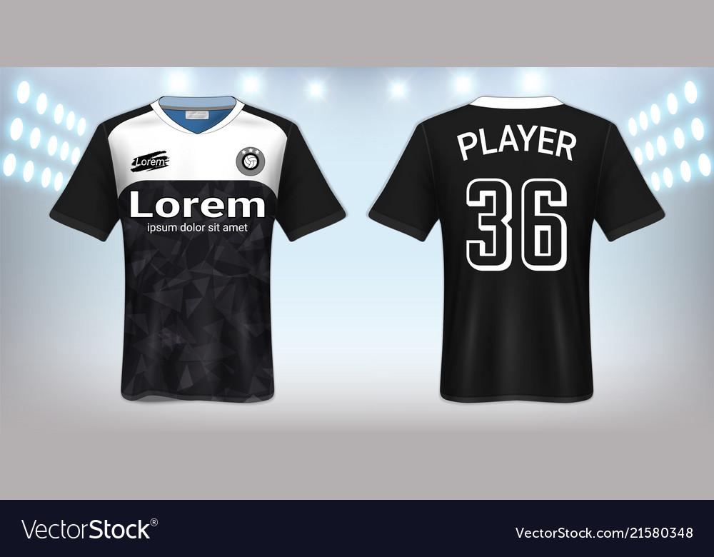 Soccer jersey mockup template