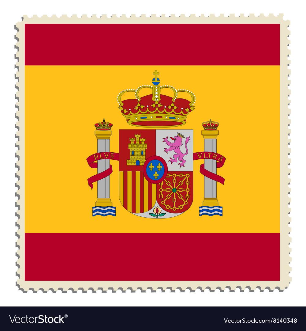 Spain flag post