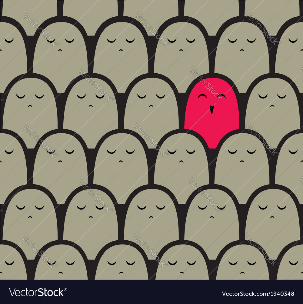 Standing out from the crowd concept vector image