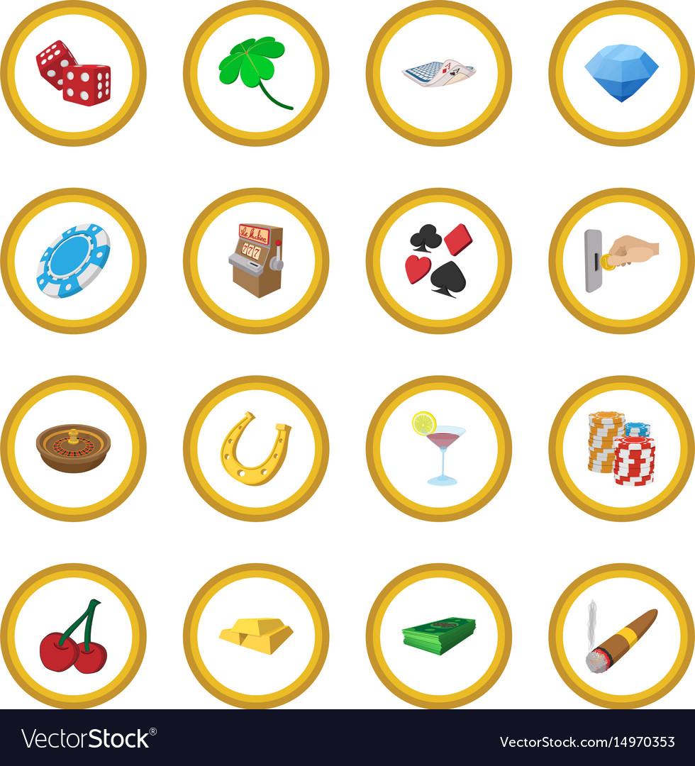 Casino cartoon icon circle vector image