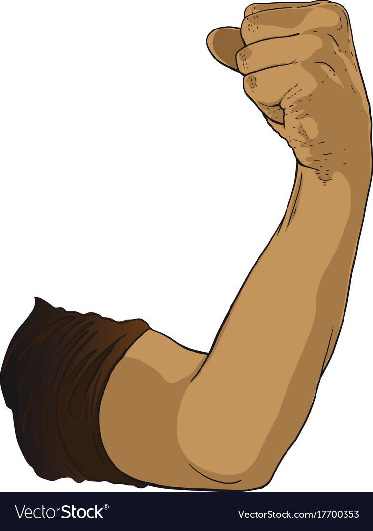 Gesture raised fist