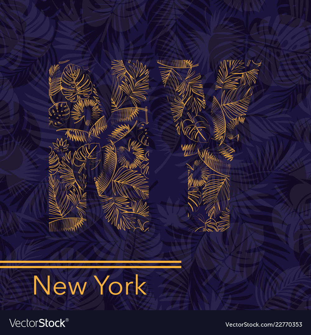 New york palm leaves background