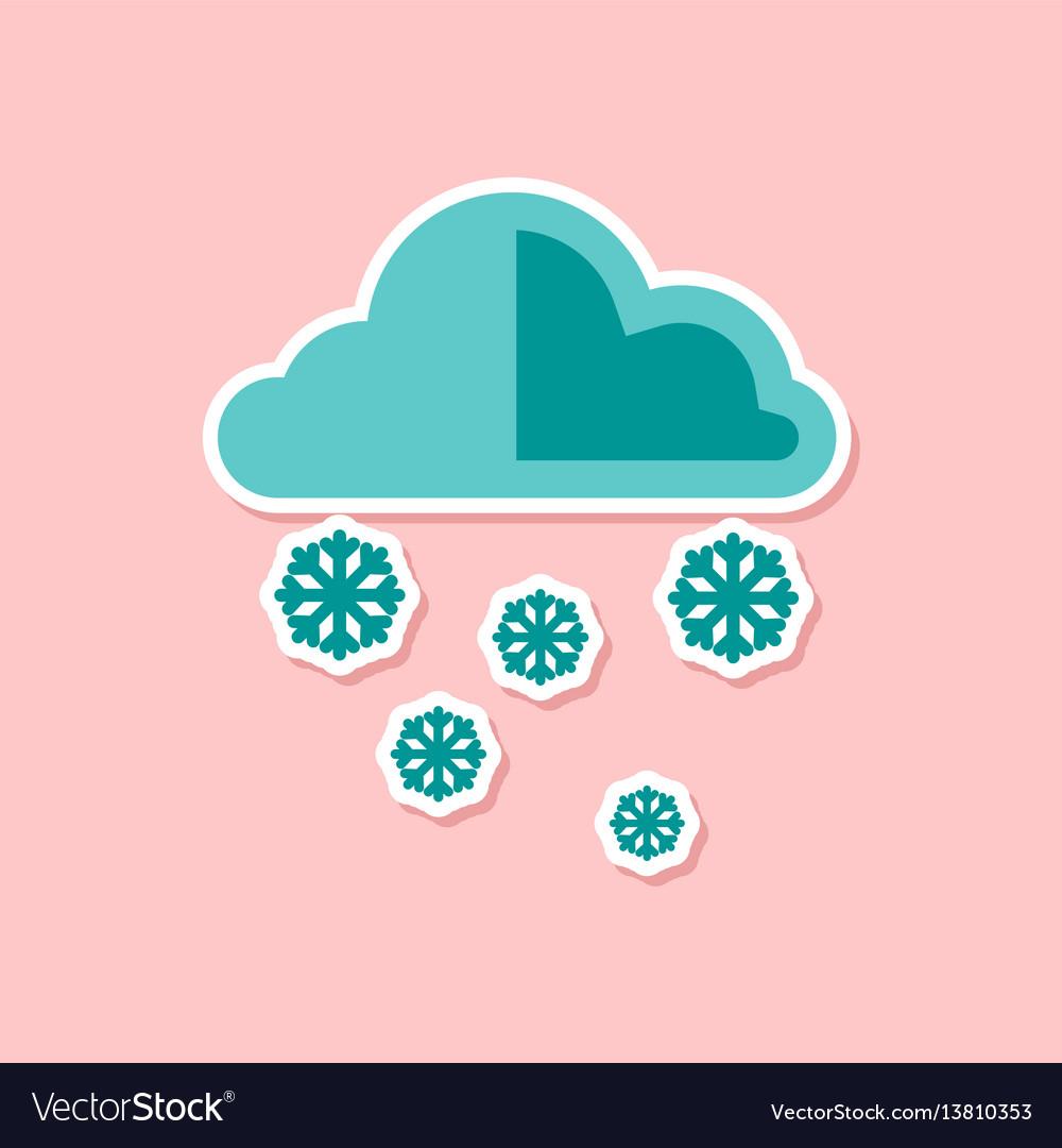 snow icon on white background