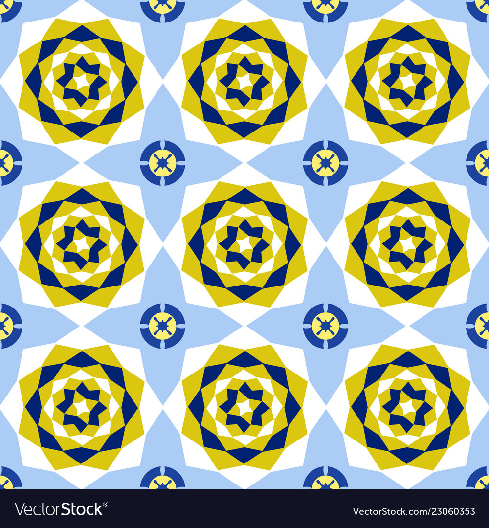 Seamless floral abstract geometric pattern