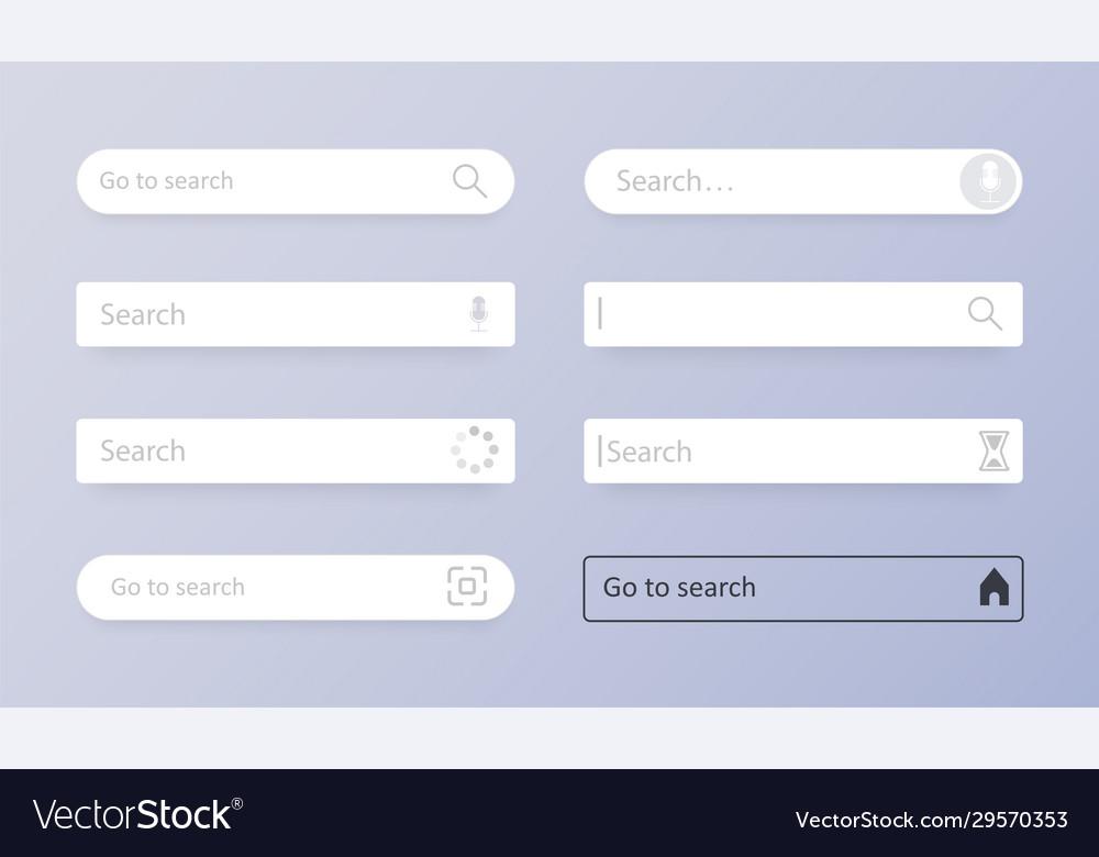 Search bar set search bar element design