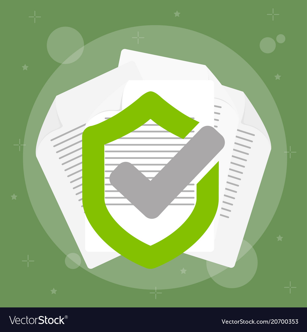 Secured data with paper vector image