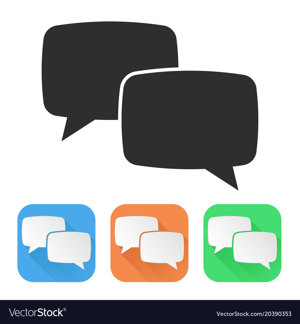 Speech bubbles colored icons