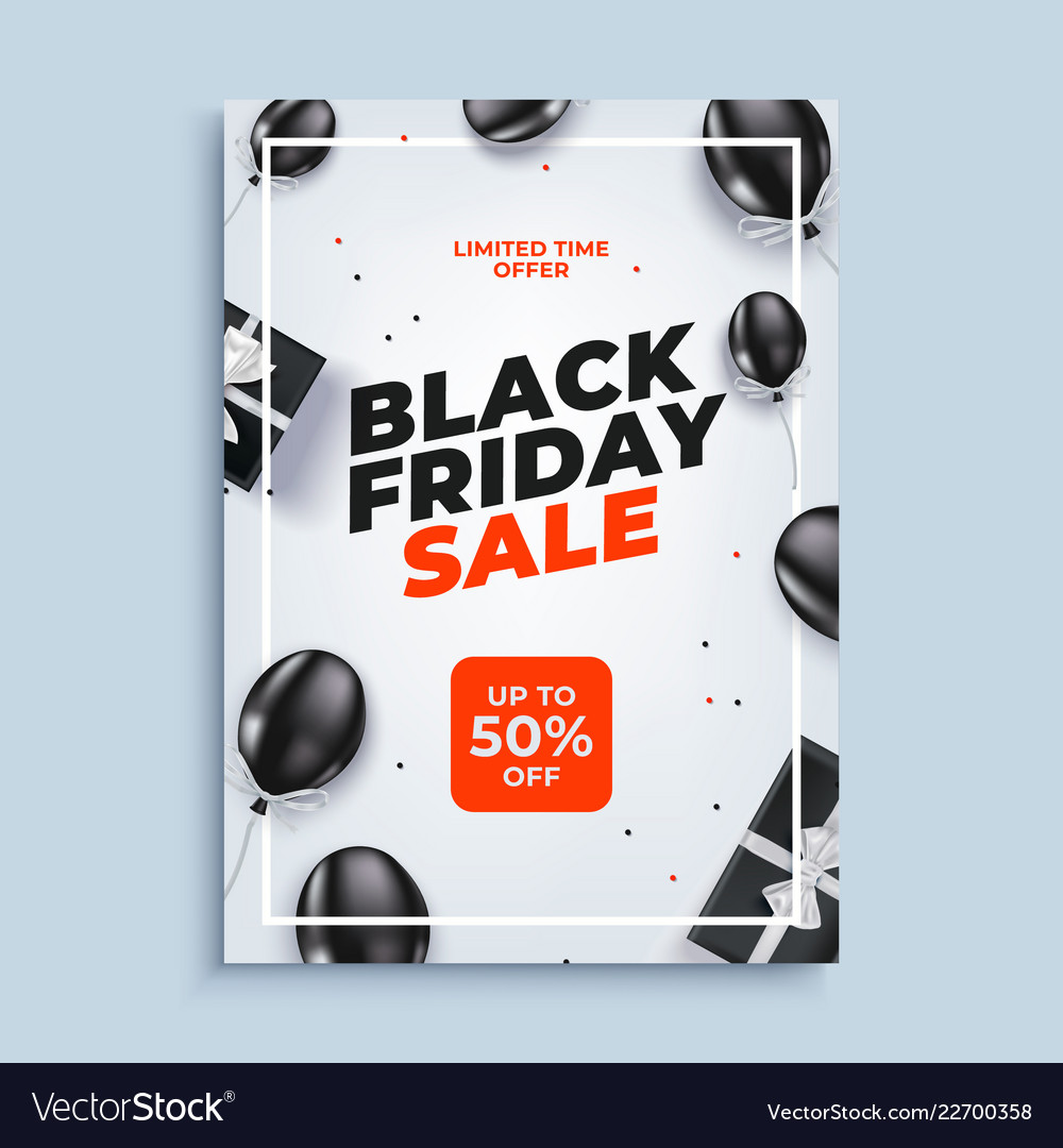 Black friday sale banner background with