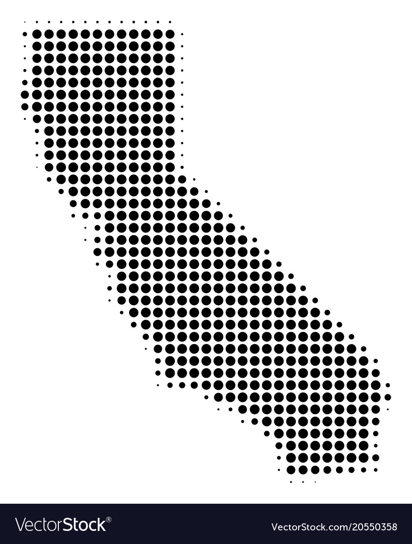 California Map Icon.California Map Halftone Icon Royalty Free Vector Image