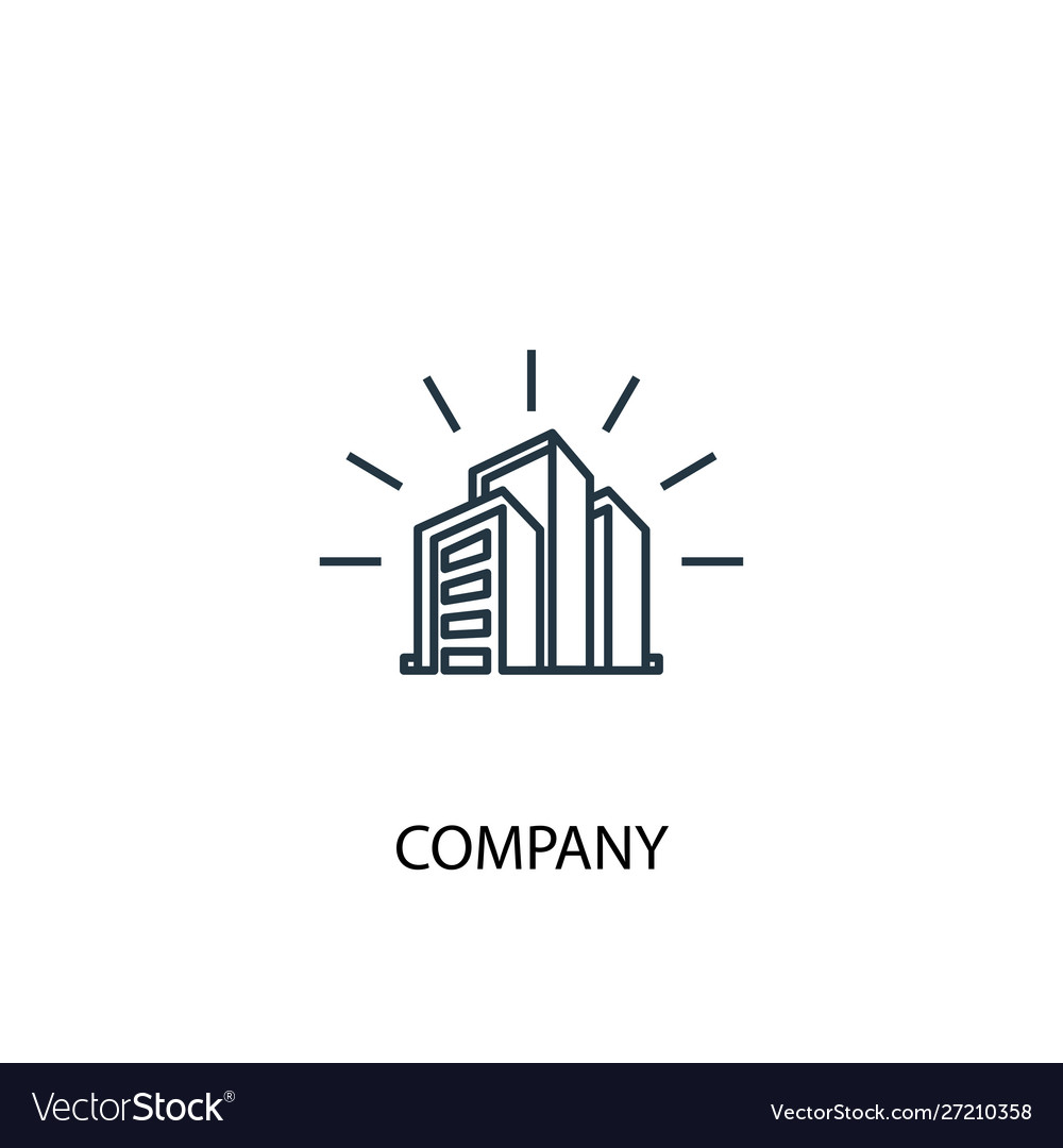 Company concept line icon simple element