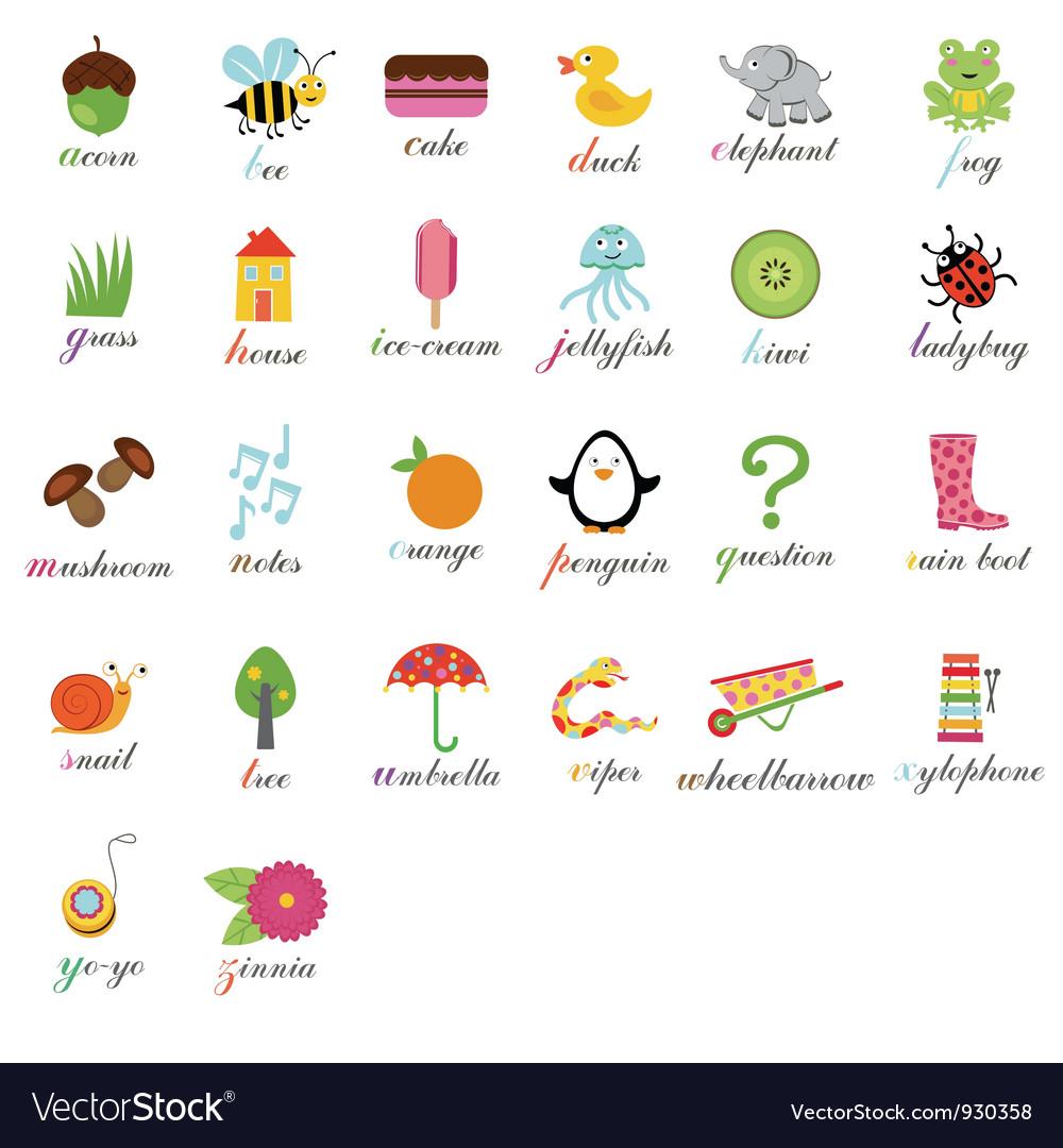 Cute alphabet royalty free vector image vectorstock cute alphabet vector image thecheapjerseys Gallery