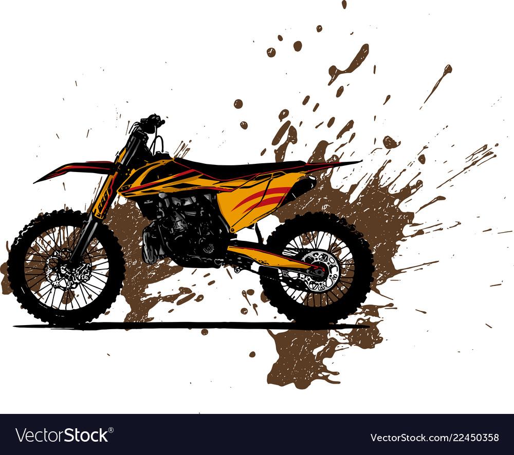 Motocross rider ride the motocross