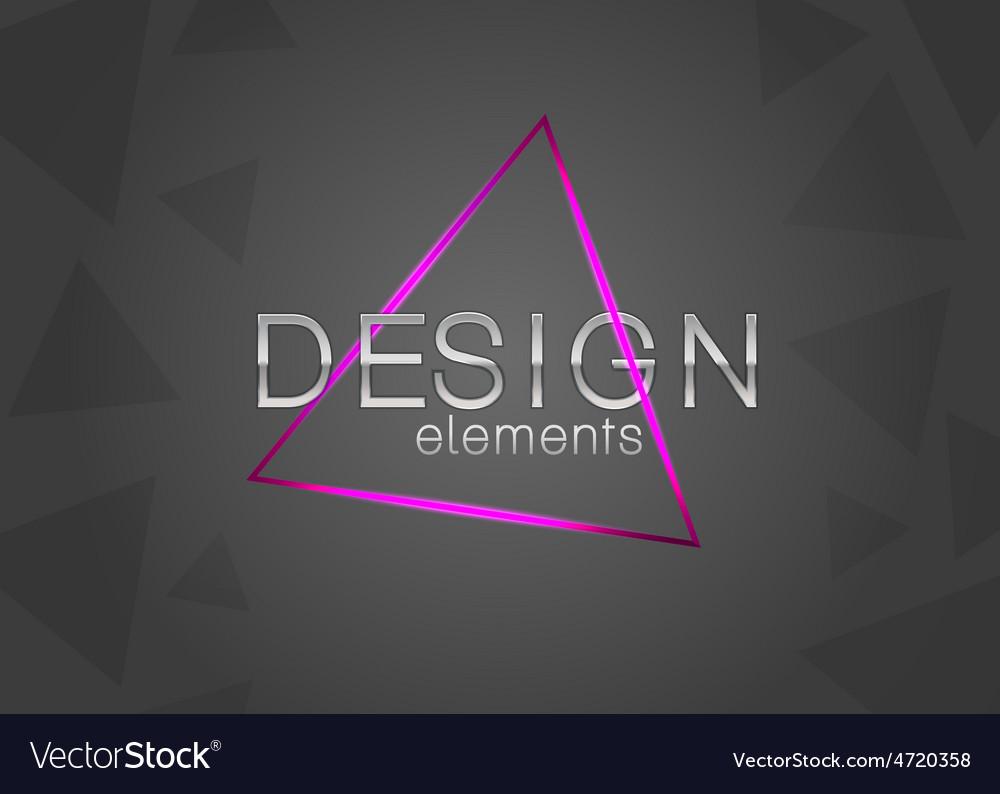 Neon triangle design element