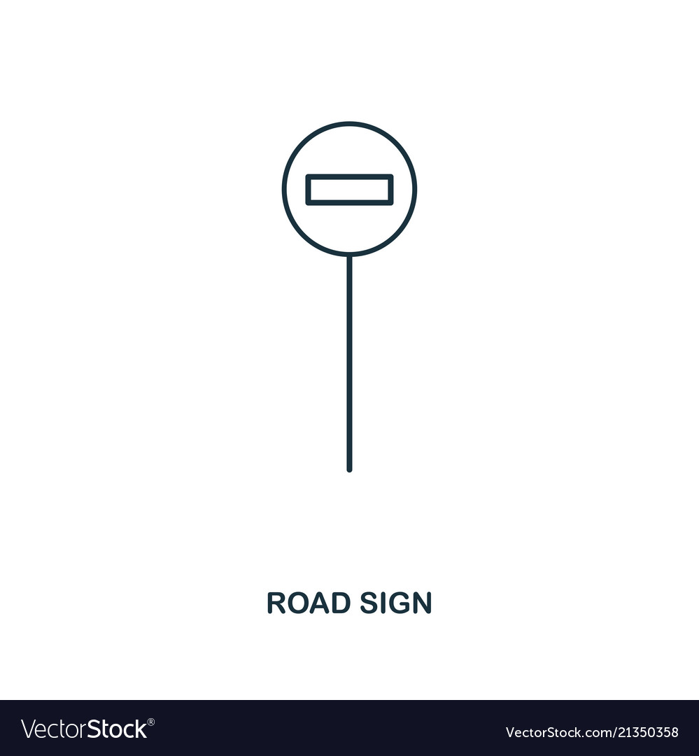 Road sign icon outline style icon design ui