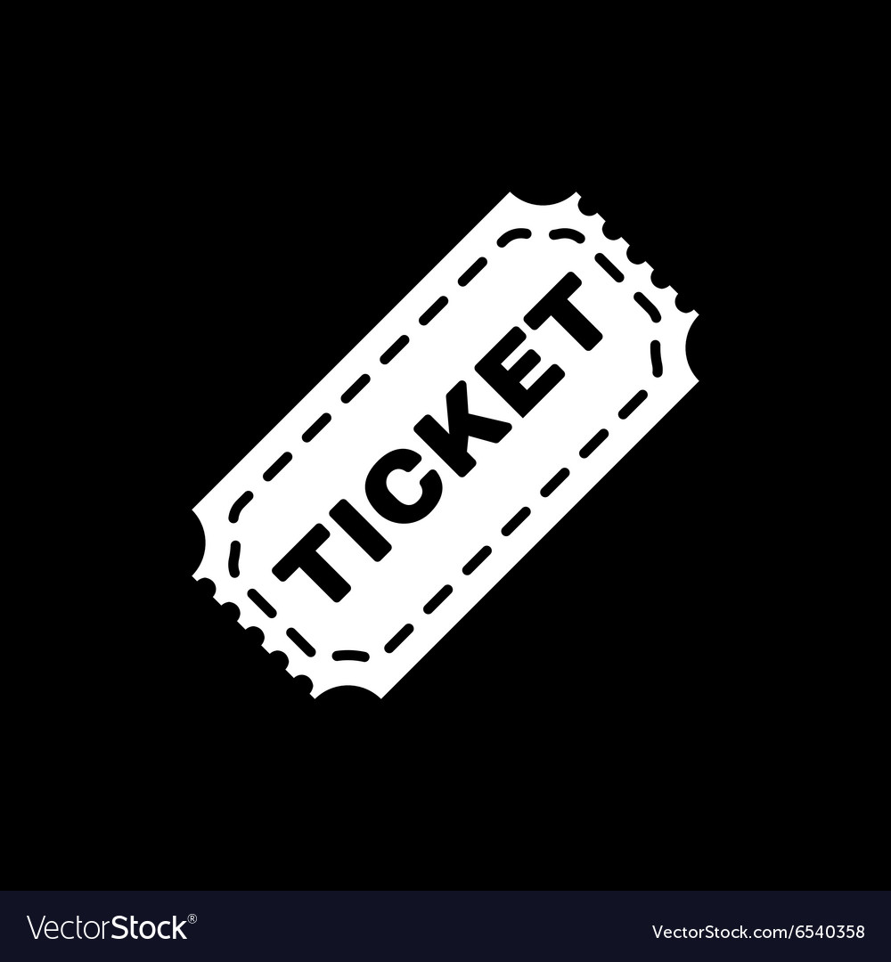 The ticket icon Ticket symbol Flat