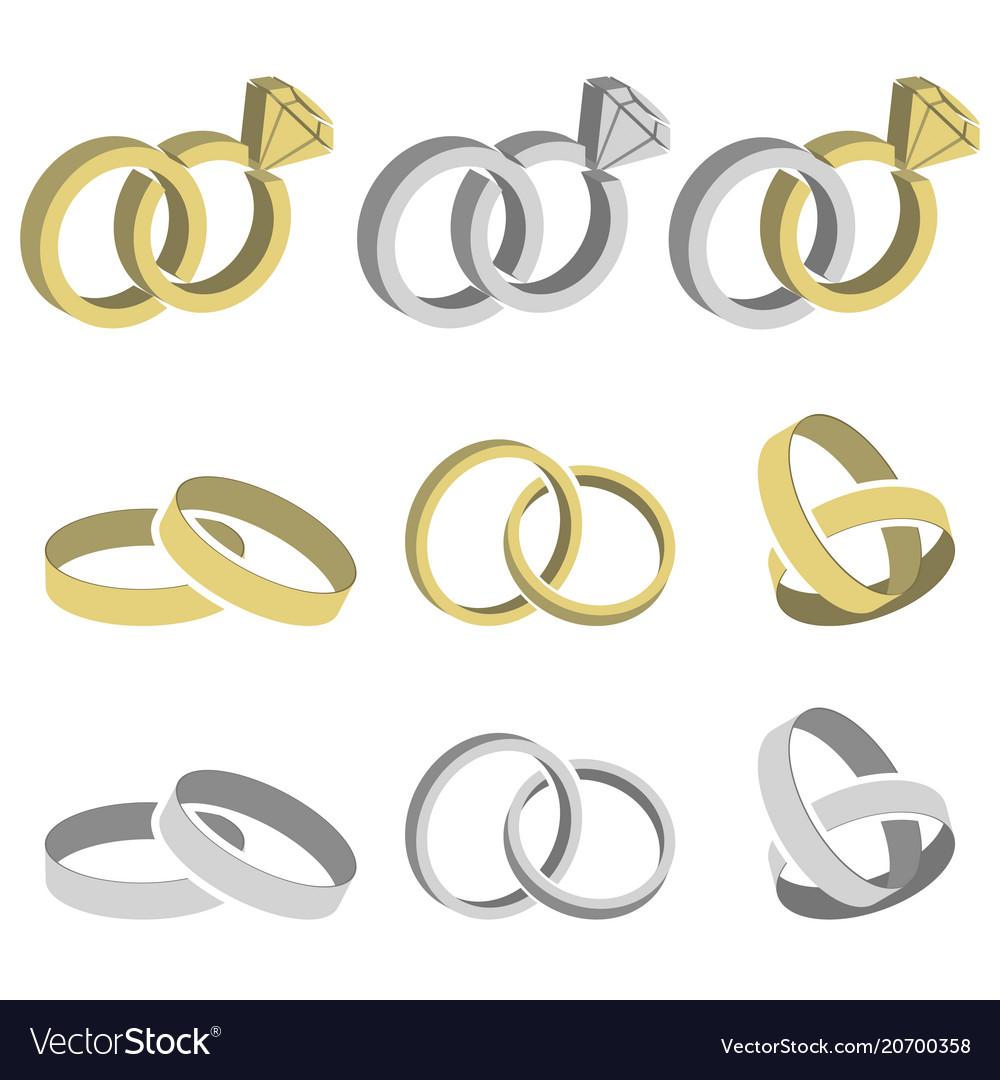 Wedding rings set